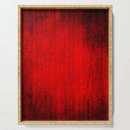 Dark Red Texture Serving Tray