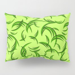 Green floral ornament of leaves and foliage. Pillow Sham