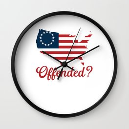 Betsy Ross Flag Offended? Wall Clock
