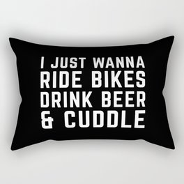 Ride Bikes, Drink Beer Funny Quote Rectangular Pillow