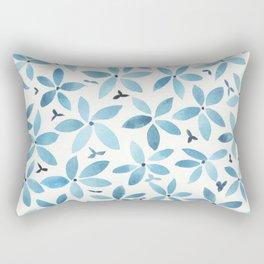 Blue Bouquet Rectangular Pillow