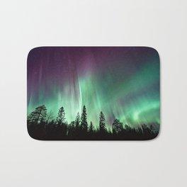 Colorful Northern Lights, Aurora Borealis Bath Mat