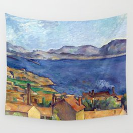 1885 - Paul Cezanne - The Bay of Marseilles, Seen from L'Estaque Wall Tapestry