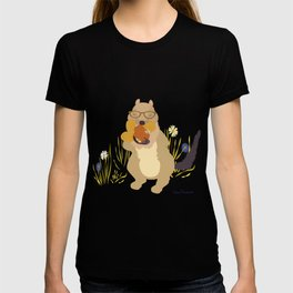 Nut Crazy...- Modern, Quirky, Cute, Woodland Creature, Squirrel Illustration Print T-shirt