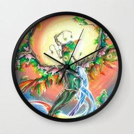 Wooden Bird of Paradise  Wall Clock