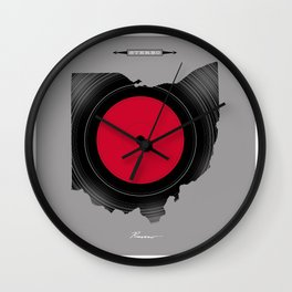 OHIO 33⅓ rpm LP Record Wall Clock