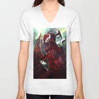 carnage V-neck T-shirts featuring Carnage by corverez