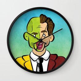 Carrey Mask Wall Clock