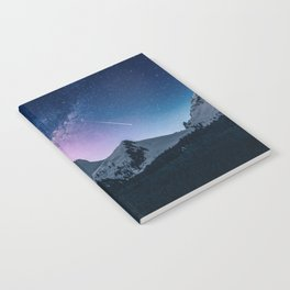 Shooting Star Over The Mountains Notebook