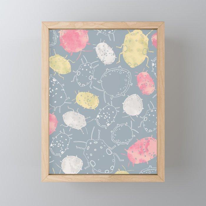 Water Bugs Framed Mini Art Print
