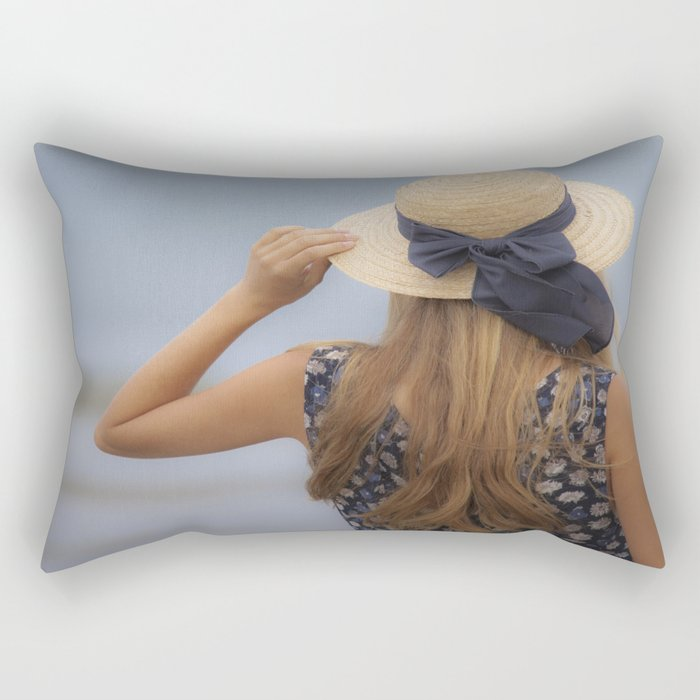 Looking out to sea Rectangular Pillow