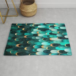 Feathered - Turquoise Rug