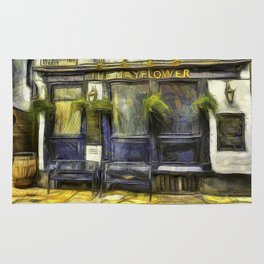 The Mayflower Pub London Van Gogh Rug