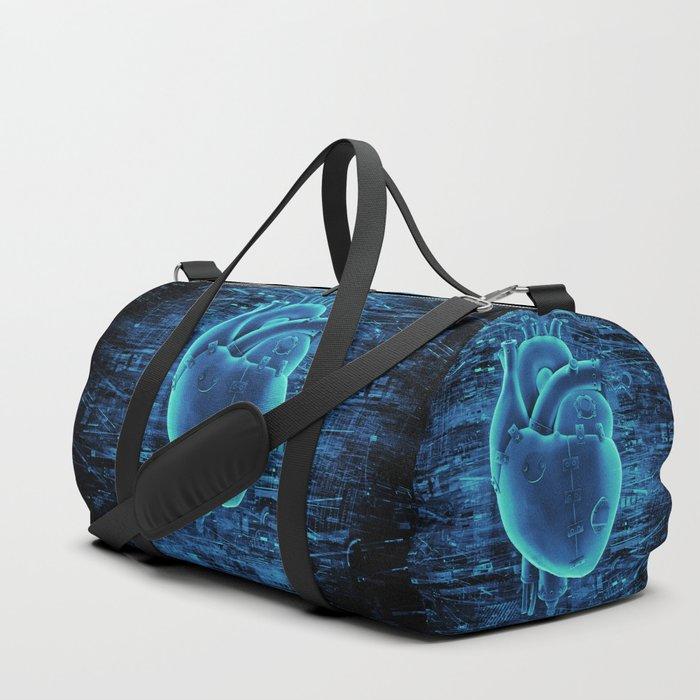 Gamer Heart BLUE TECH / 3D render of mechanical heart Duffle Bag