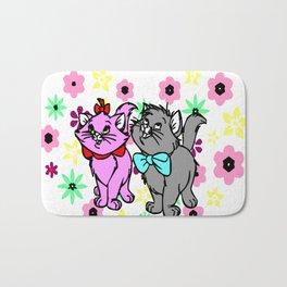 The happy cute couple cats Bath Mat