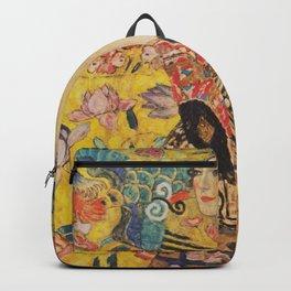 Gustav Klimt - Lady With Fan Backpack