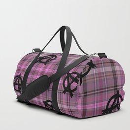 pink  plaid anarchy Duffle Bag