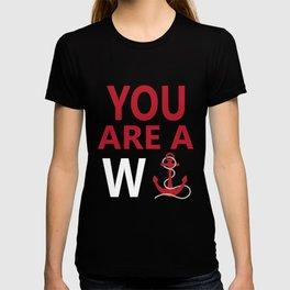 You Are A Wanker Vintage Anchor Nautical Nantucket Shirt T-shirt