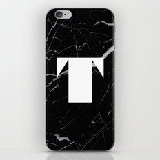 Black Marble - Alphabet T iPhone & iPod Skin
