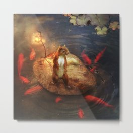 Columbus the Squirrel Metal Print