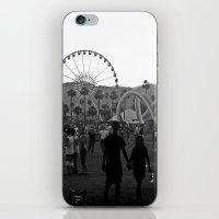 coachella iPhone & iPod Skins featuring Coachella Couple by Derek Delacroix