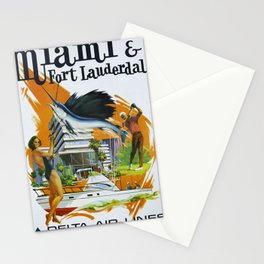 Vintage poster - Miami and Fort Lauderdale Stationery Cards