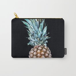Pineapple On A Black Background #decor #society6 Carry-All Pouch