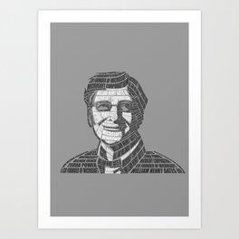 Bill Gates Calligram Art Print
