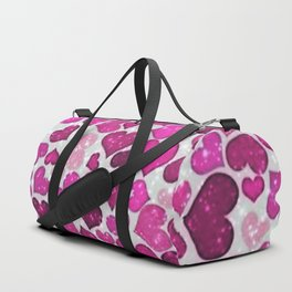 Sparkling Hearts,pink Duffle Bag