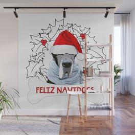 Feliz Navidog Wall Mural