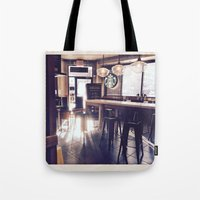 starbucks Tote Bags featuring Starbucks by Art By JuJu