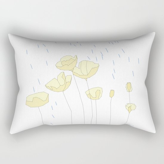 SPRING RAIN Rectangular Pillow