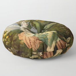 """The body, the soul and the garden of love"" Floor Pillow"