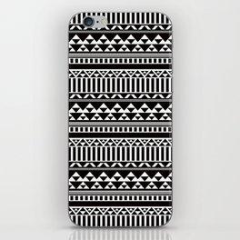 Mountain Stripe Kilim in Black + White iPhone Skin