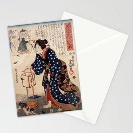 Japanese Print - Kunisada - Parodies of the 6 Immortal Poets (1850) - The Poet Bunya no Yasuhide Stationery Cards