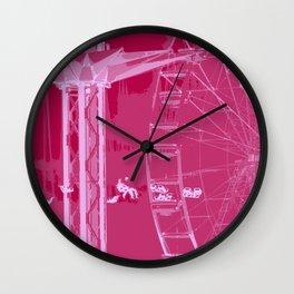 Carnival Rides - Pink Hues Wall Clock