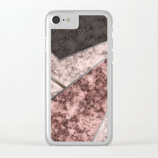 Marble . Combined abstract pattern . Clear iPhone Case