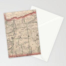 Vintage Map of Oregon (1883) Stationery Cards