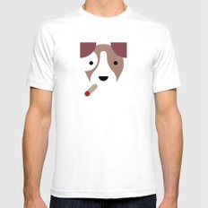 Pedigree: Jack Russell SMALL Mens Fitted Tee White