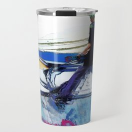 Hanging On  -  Stunt Scooter Artwork Travel Mug
