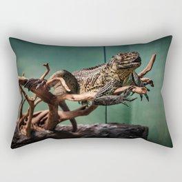 Languid Lizard Rectangular Pillow