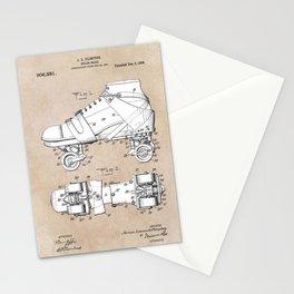 patent art Plimpton Roller Skate 1907 Stationery Cards