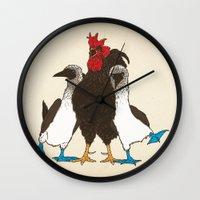 russian Wall Clocks featuring Russian Massage by Rodrigo Ferreira