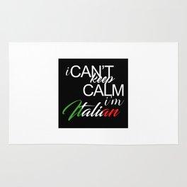 I Can't Keep Calm I'm Italian Rug