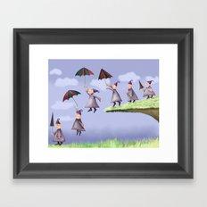 Floating Down Framed Art Print