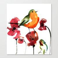 robin Canvas Prints featuring ROBIN by genie espinosa
