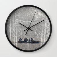 moonrise Wall Clocks featuring MOONRISE by Mari