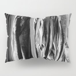 The Holy Book - High Contrast Black And White Typographic Design Pillow Sham
