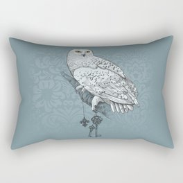 Secrets of the Snowy Owl Rectangular Pillow