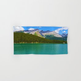 Maligne Lake in Jasper National Park, Canada Hand & Bath Towel